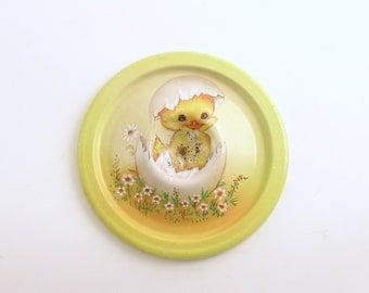 Vintage Easter Egg Cup Hatching Chick Easter Decoration