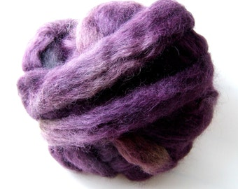 Gotland Dyed Wool Roving 3 Ounces - Blackberry