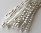 1.5 inch Silver Plated Head Pins, 22 Gauge, Medium Gauge Wire, Pack of 100  *CLEARANCE*