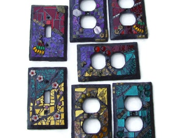Custom Mosaic Switch Plates to Match Your Room Switchplates