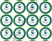 """INSTANT DOWNLOAD / Whale Theme Party  2"""" printable Party Circles /  Cupcake Topper / Stickers / Thank You Tags"""