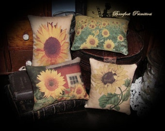 Sunflower Pillow Tucks handmade cplg #2