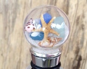Sand and Sea Wine Bottle Stopper