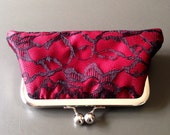 Black Lace over Red Clutch