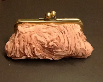 Dusty Rose Chiffon Clutch