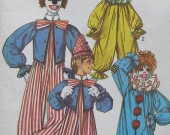 Vintage Simplicity Clown Costume Pattern 9051