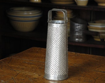 Vintage Round Tin Grater Dated