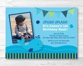 Cute Whale Birthday Invit...