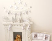 Joyous Noel White Christmas KIT, Fabric and decor Kit, 1:12, Dollhouse Miniature designed by Jean Day