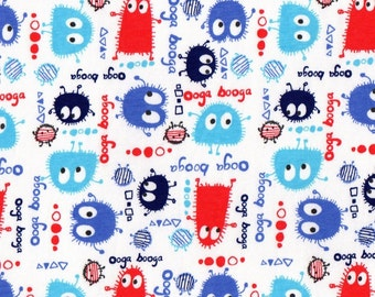 PATRIOTIC Ooga Booga, Cotton/Lycra Jersey Knit Fabric, by the yard