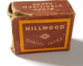 Vintage Hillwood Brass Plated Cobblers Nail Box Staples • Vintage Hardware Box