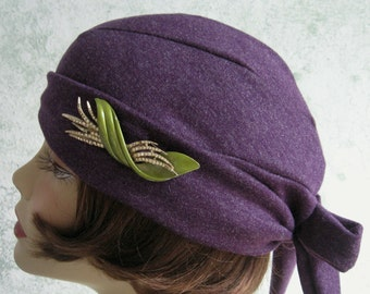 Vintage 1930s Womens Hat Pattern Back Wrap Design Instant Download