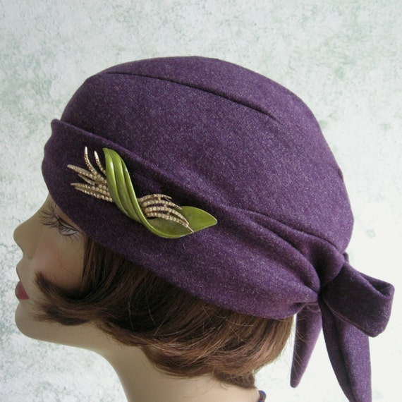 vintage 1930s womens hat pattern back wrap design instant