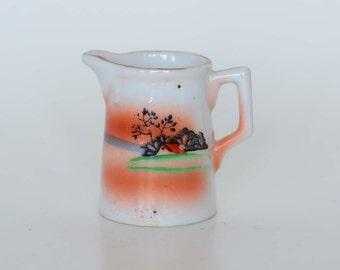Vintage Hand Painted Syrup or Cream Pitcher