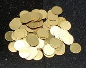 """1/2"""" Brass Disc 24 Gauge  Pack of 72"""