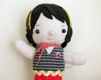 SALE -Waldorf Inspired Sock Doll 7.75 inches