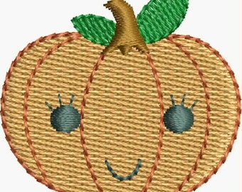 Mini Sweet Pumpkin embroidery designs Instant Download