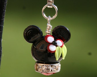 Tropical Minnie Mouse Style Magical Zipper Pull or Charm Disney Inspired DeSIGNeR Accessory