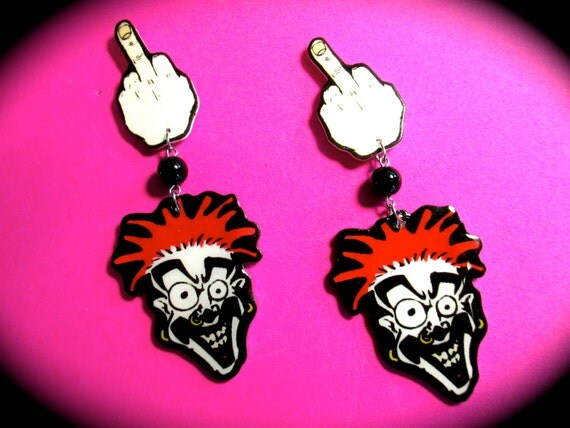 dope earrings shaggy 2 dope f stud dangle earrings 9641