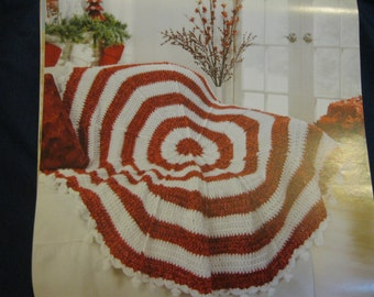 Custom Crochet Peppermint Stripes Afghan Gift Present Christmas Birthday Mother Day Wedding Graduation Valentines Made to Order 6-8 wks Del