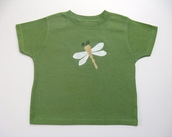 Dragonfly T Shirt, Insect Tshirt, Bug Tshirt, Summer Shirt, Short Sleeves, Dragonfly Outfit, Hand Dyed, Hand Painted, Baby or Toddler