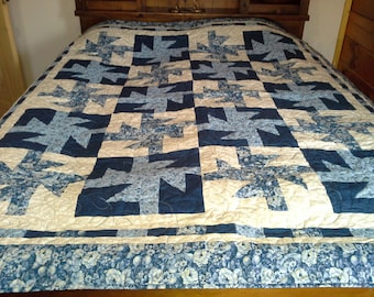 Blue Ribbons full size bed