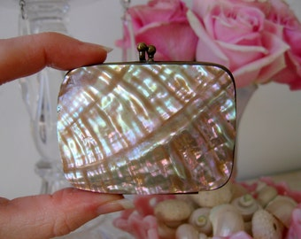Vintage Miniature Antique Mother of Pearl Coin Purse