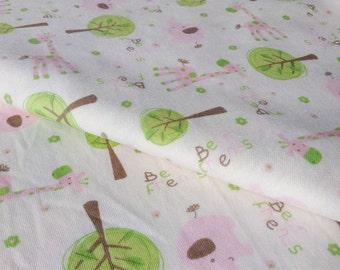 3684 - Best Friends Cotton Jersey Knit Fabric - 66 Inch (Width) x 1/2 Yard (Length)