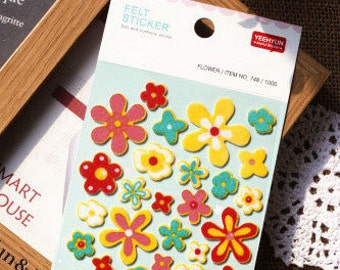 Felt Stickers (P163.33 - Flower)