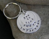 Stamped Key Ring Keychain Inspirational The Help Quote