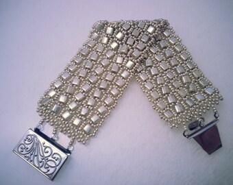 Silver Cubed Cuff