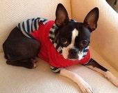 Small Designer Handmade Dog Clothes Boston Terrier Hoodie Medium