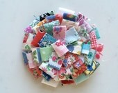 Raggy Rosette Brooch - Forties Florals