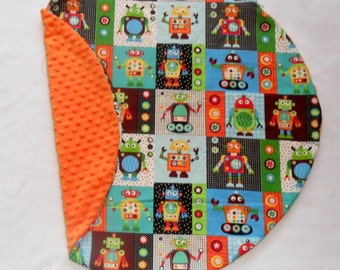 Robots and Minky Dot Pillow Cover Fits Boppy Newborn Lounger CHOICE OF MINKY