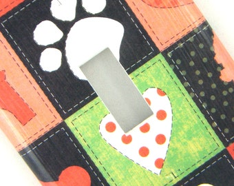 Light Switch Cover Switchplate -- Dog Squares