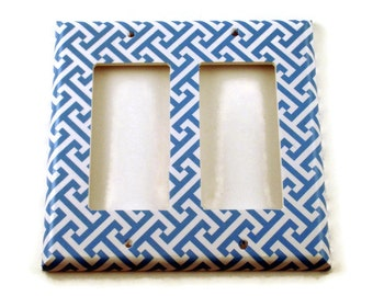 Double Rocker Light Switch Cover  Wall Decor Switch Plate Switchplate in  Aegean  (239DR)