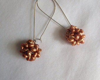 Copper Pearl Dangles