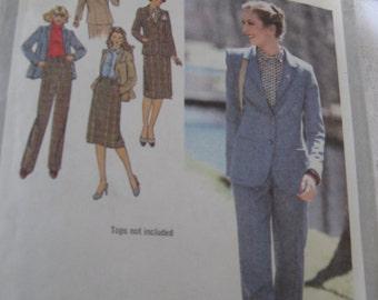 Simplicity 9186 Pant Skirt & Jacket Wardrobe Pattern 1979