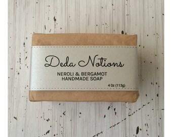 Neroli, Blood Orange and Bergamot  - OLIVE & SHEA BUTTER Soap - Cold Process Soap