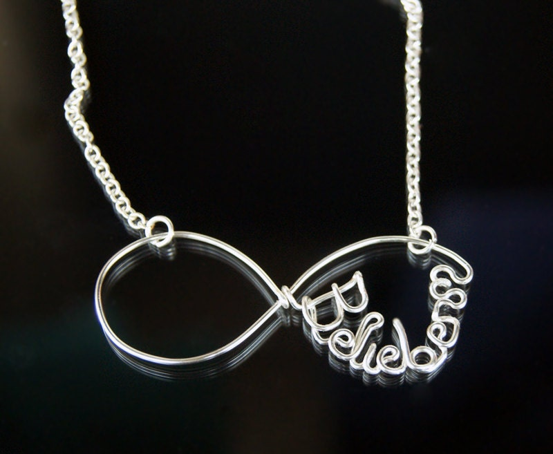 infinity belieber necklace justin bieber necklace by