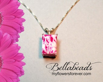 Trending Jewelry, Memorial Jewelry, Memorial Flower Petal Jewelry, Funeral Flower Jewelry, Memorial Gift Idea, Jessica's Pendant