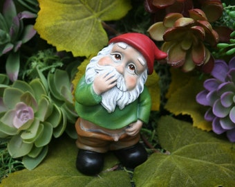 "Funny Gnome - Caught With His Pants Down - ""Wee Willie Winkie"" - Rude Gnome"