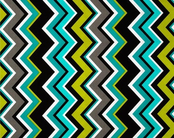 Twin Boutique Shopping Cart Cover for boy or girl.....Lagoon Chevron Shopping Cart Cover for 2 children