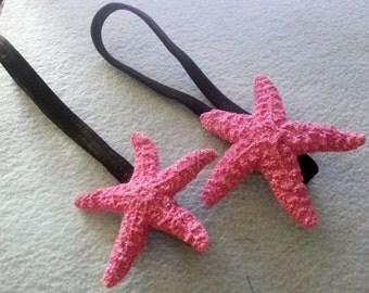 Pink Starfish,Etsy wedding,Mermaid clip,Hair flower,Mermaid , Ready to ship,luau, wedding,tropical hair clip, glitter