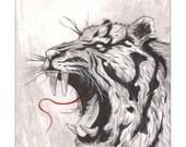 """Tiger 11""""x14"""" Print"""