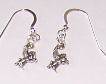 Sterling Silver PEGASUS - FLYING HORSE Earrings -