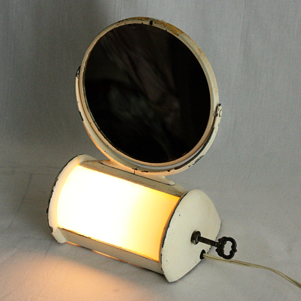 Vintage Vanity Mirror With Lights : Vintage vanity mirror light vanity mirror by OldCottonwood