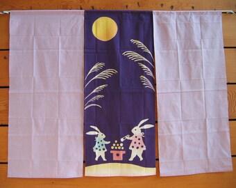 Noren-Fabric Room Divider_mochi bunnies