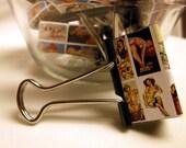 """Binder Clips - """"Girls Next Door"""" 12 medium binder clips"""