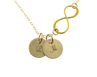 Celebrity Inspired Infinity Gold Filled Necklace - Forever Love. Best  Friends Forever. Bridesmaids. Brides.  (NN079)
